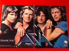"""BIG 14x22 ORIGINAL & RARE """"ASIA"""" 1982 DEBUT LP ALBUM CD PROMO AD"""