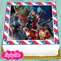 PRECUT EDIBLE ICING 7.5 INCH AVENGERS SUPER HERO CAKE TOPPER NS0860
