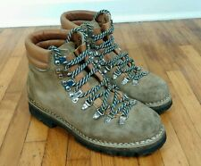 Vintage Vibram Mens 7.5 Mountaineering Leather Hiking Boots Italy Colorado