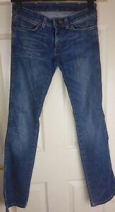 Wrangler Ladies/Girl Blue Straight Jean Trousers Size W26 L32