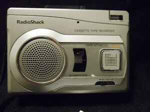 Radio Shack cassette tape recorder voice activated pop up mic.