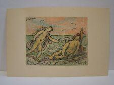 Ludwig Stromeyer impressionistische Zeichnung um 1900 Park Odysee Leukothea