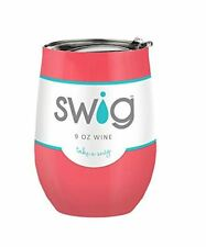 Stemless Wine Cup Stainless  Swig CORAL INSULATED YETI RTIC Technology