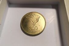 "1972 BRAZIL ""PROVA"" 300 CRUZEIROS. KM-Pr7 PATTERN 300c. 150th ANNIV. BRASS PROOF"