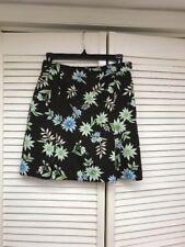 EP PRO Brown w/Floral Design, Golf Tennis Skort, Side Zip, Sz 2, GUC!