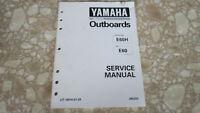 Yamaha Marine Outboards Service Manual E60H E60 LIT-18616-01-29 Used OEM