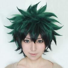 My Hero Academia Izuku Midoriya Short Green Black Ombre Cosplay Hair Wig