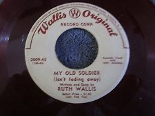Ruth Wallis, The Fishing Pole Song / My Old Soldier  (Red Vinyl)
