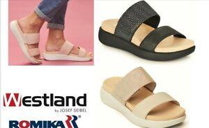 Josef Seibel Westland formerly Romika shoes Germany leather slides Borneo 01