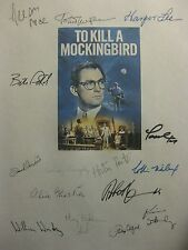 To Kill A Mockingbird Signed Script X15 Gregory Peck Harper Lee Frank Overton rp