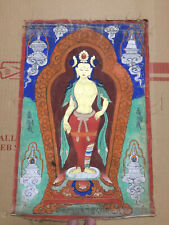 Mongolian ANTIQUE Buddhist OLD Thangka Paint 18-19c