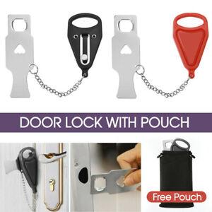 Portable Door Lock Hardware Security Safety Travel Hotel Home Portable Safe Lock