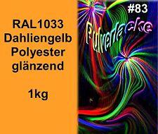 PULVERLACK 1kg Beschichtungspulver RAL1033 Pulverbeschichtung Lackpulver gelb