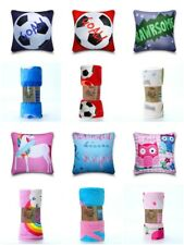 New Kids Throws Super Soft Fleece Bed Blanket / Cushion Cover Football Unicorn