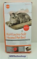 """New listing K&H Lectro Soft Electric Heated Pet Bed Small 14""""x18"""" Dog Indoor Outdoor -New"""