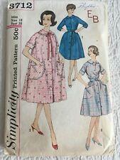VTG 1950s or 60s Simplicity Pattern 3712 Sz 18/38 Womens Robe House Dress