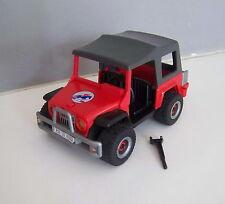 PLAYMOBIL (T4138) CENTRE EQUESTRE - Jeep Rouge avec Toit Transport Chevaux 4189