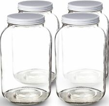 Paksh Novelty 1-Gallon Glass Jar Wide Mouth with Airtight Metal Lid - USDA