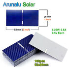 High Power 52*26 mm Solar Cells 100pcs for DIY Poly Solar Panel Battery Charger