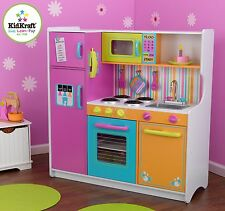 Kidkraft Deluxe Big and Bright Kitchen Kids Wooden Play Kitchen