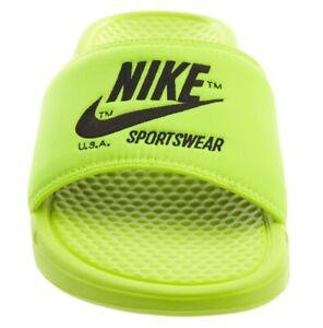 Nike Slides Sportswear Benassi Jdi Volt Men's 11 Shower Shoes Sandals AR1540