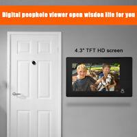 "4.3"" TFT LCD Mirilla Digital Timbre De Puerta Vídeo de Cámara Monitor Kit Nuevo"