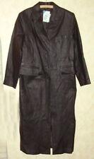 Ledermantel bodenlang schwarz Gr.38 Leder Mantel Quelle BASIC