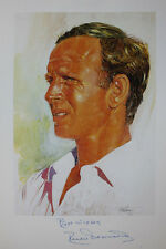 Signed Derek Underwood cricket print from Lord's Taverner's 50 Greatest