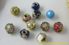600pcs Mix color Cloisonne enamel round bead 6mm W539
