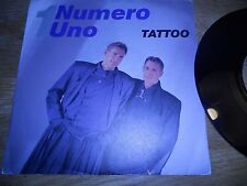 "NUMERO UNO ""TATTOO"" 1987 MEGA RECORDS BIEM / NCB RARE DANISH VINYL SINGLE USED**"