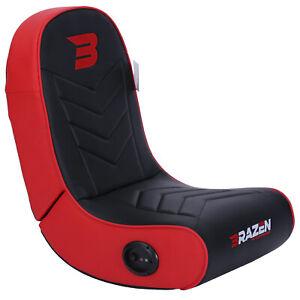 BraZen Floor Rocker Gaming Chair - Speaker - Stingray 2.0 Surround Sound - Red