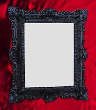 Marco barroco negro antiguo con vidrio 45x38 Rectangular Marco De Foto Gótico