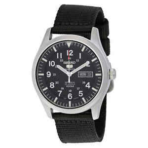 Seiko 5 Sport Automatic Black Canvas Men's Watch SNZG15