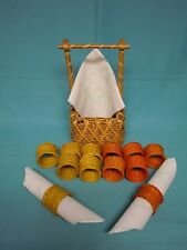 Napkin Holders & basket made by natural rice straw and bamboo