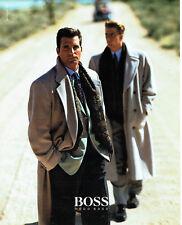 Publicité Advertising 108  1991   Hugo Boss manteaux haute couture homme
