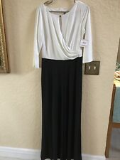 Anne Klein Size 10–1pc Jumsuit Off White With Black Orig $139