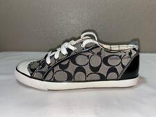 Coach SINGLE LEFT SHOE Size US 8.5 Barrett Black & Gray Sneaker NEW Never Worn