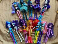 Mattel Hasbro My Little Pony Equestria Girl Dolls Lot of  12~Doll & Accessories