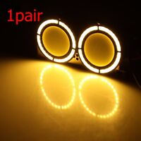 1pair COB LED White Round DRL Daytime Running Light Car/SUV/Truck Fog Lamps 12V