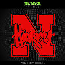 "Nebraska - Cornhuskers - NCAA - Red Vinyl Sticker Decal 5"""