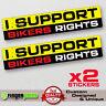 I SUPPORT BIKERS right sticker decal vinyl jdm bumper car truck 4x4 window drift