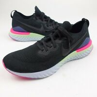 Nike Epic React Flyknit 2 Black Multi Color Running Shoes Mens Size 12.5