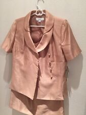 NWT(200$) Skirt Suit LE SUIT 8 Gold Sand Beautifull