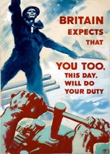 BRITAIN EXPECTS THAT YOU TOO WILL DO YOUR DUTY  British WW2 Propaganda Poster