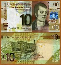 Scotland, Clydesdale Bank, 10 pounds,  2014, Pick 229j, UNC