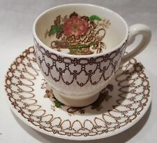 Vintage Myott & Sons Bonnie Dundee Coffee Cup & Saucer c1947-60s Made In England
