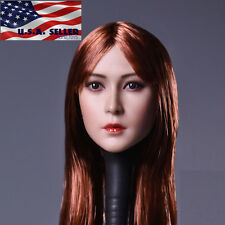 1/6 Female Head Sculpt Long Straight Hair B for Phicen Hot Toys Figure ❶USA❶