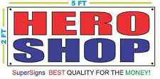 HERO SHOP Banner Sign NEW Size for Restaurant Stand Trailer Truck Store