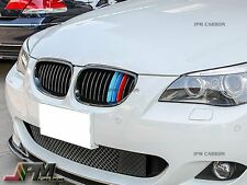 2004-2010 BMW E60 520i 528i 535i 550i Gloss Black Front Grille w/ M Tri Color