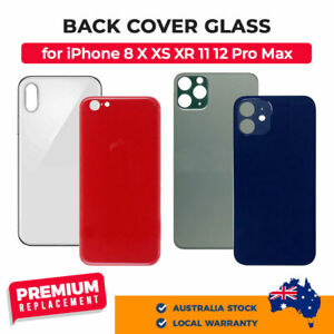 BIG HOLE Back Cover Glass Replacement for iPhone 8 X XS XR 11 12 Plus Pro Max